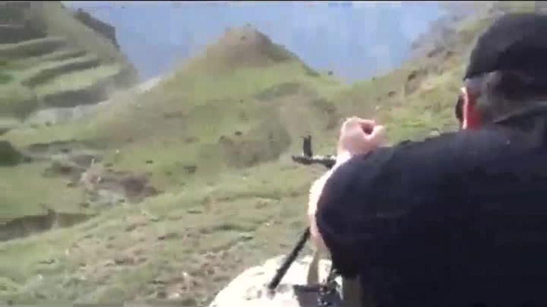 Разминка от Саида Араканского стрельбой из пулемета
