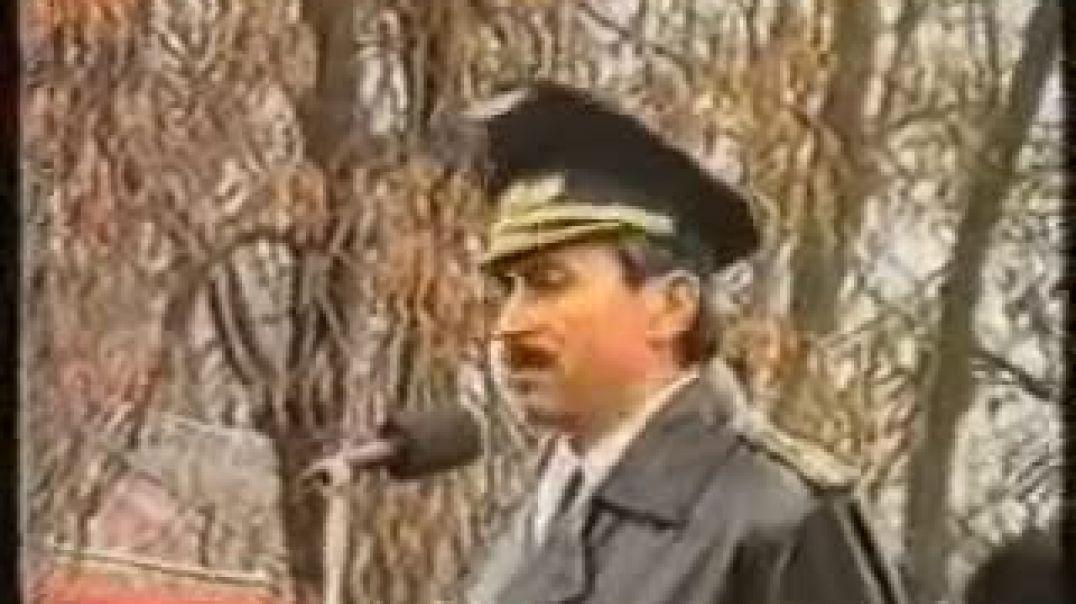 Выступление Джохара Дудаева на открытии мемориала, памяти погибшим 23 февраля 1944 года.