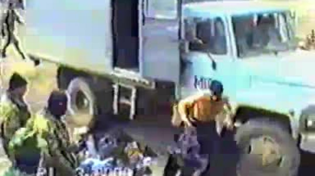 Пленные  Муджахиды из села Са1ди-Кьотар (с.Комсомольское), март 2000 года. Чечня  (Нахчийчоь)