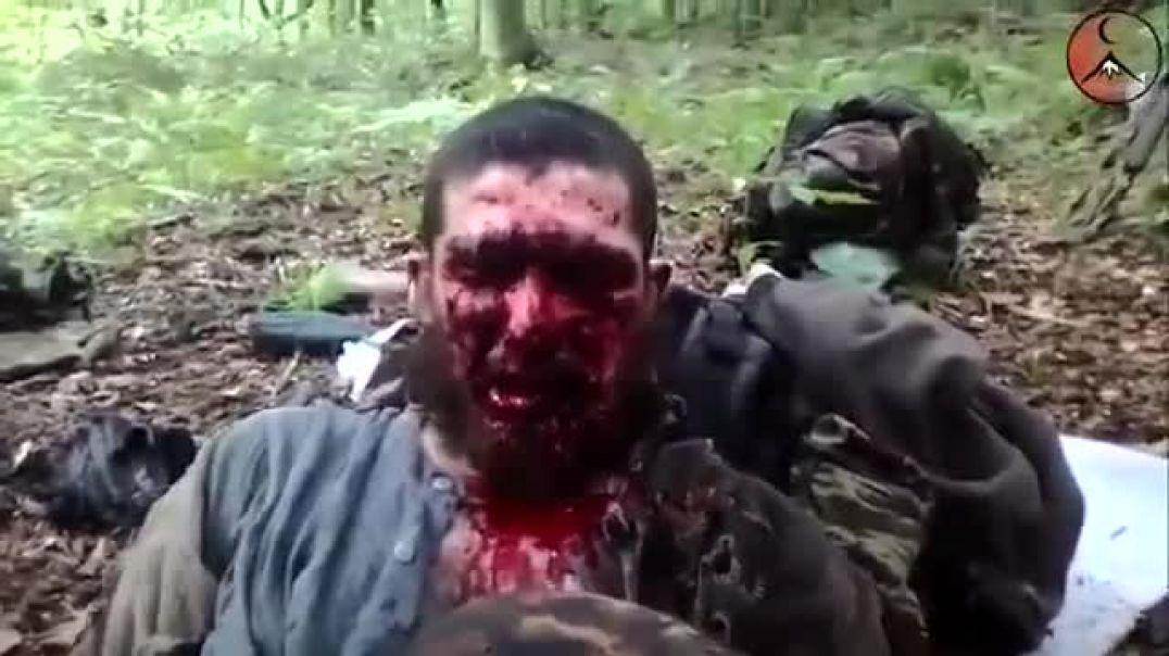 Наставление раненого муджахида. Лето 2014 года. Вилаят Нохчийчоь.