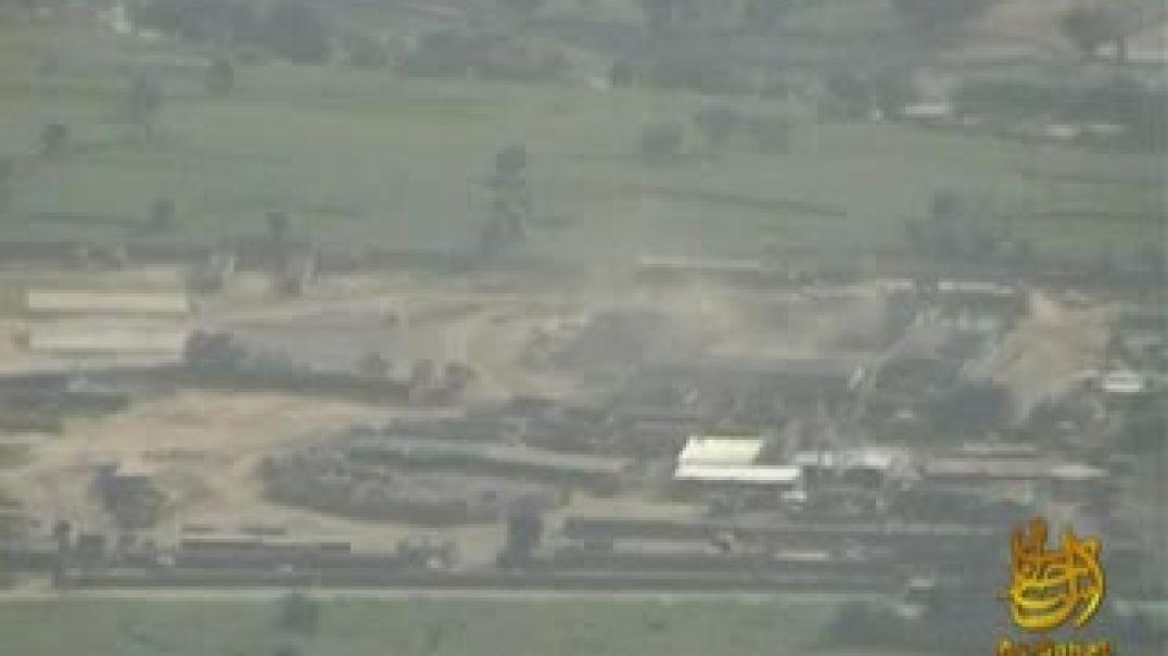 Обстрел муджахидами ИЭА базу Американских кафиров