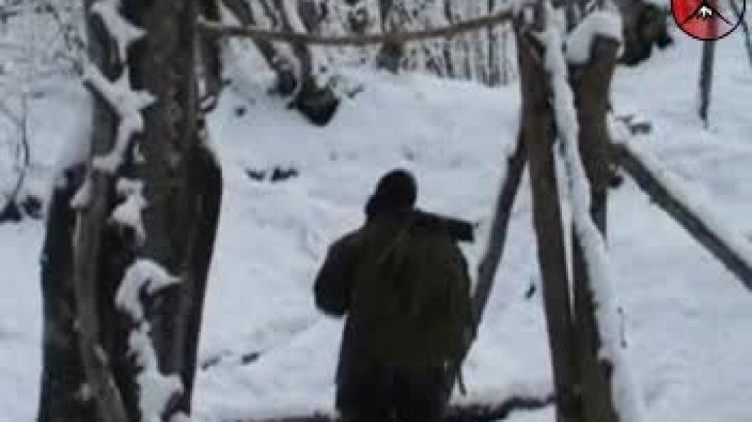 Быт моджахедов зимой. Восточный Фронт ВС ИК. Вилаят Нохчийчоь