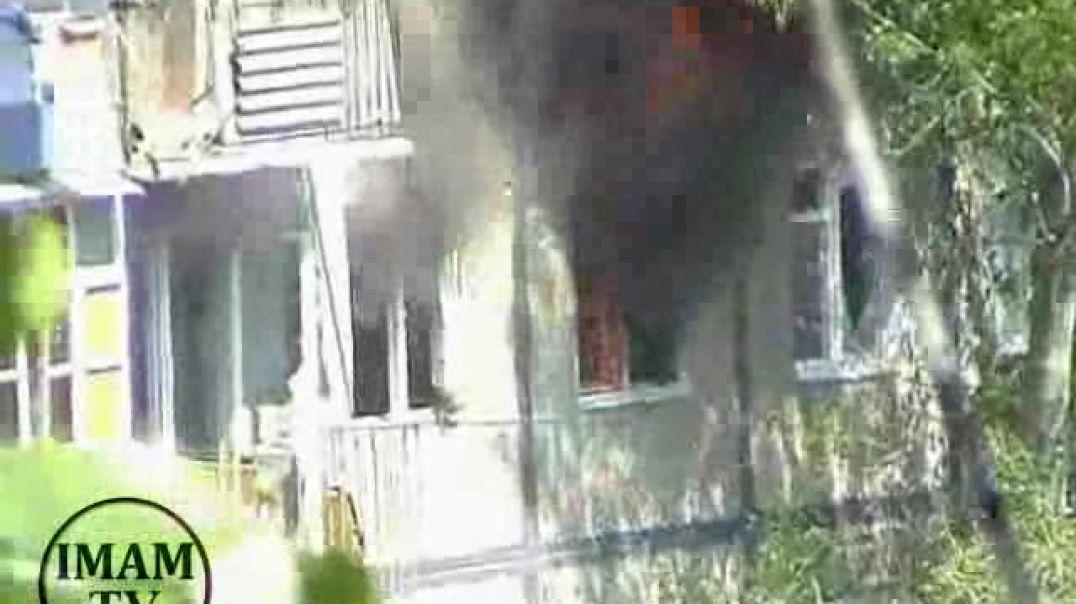 Кадры штурма квартиры с муджахидами. Вилаят Дагестан. 2008 гoд
