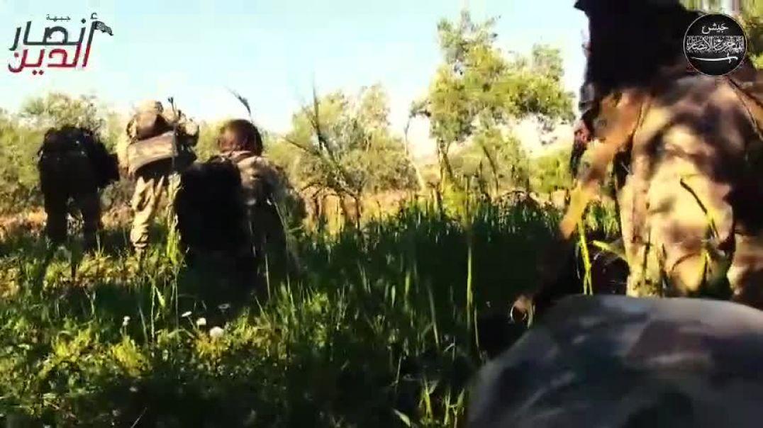 ШАМ. Операция в Джиср аш-Шугур. ДМА Зачистка села Иштабрак. 5 Раджаб 1436 год (24.04.2015)