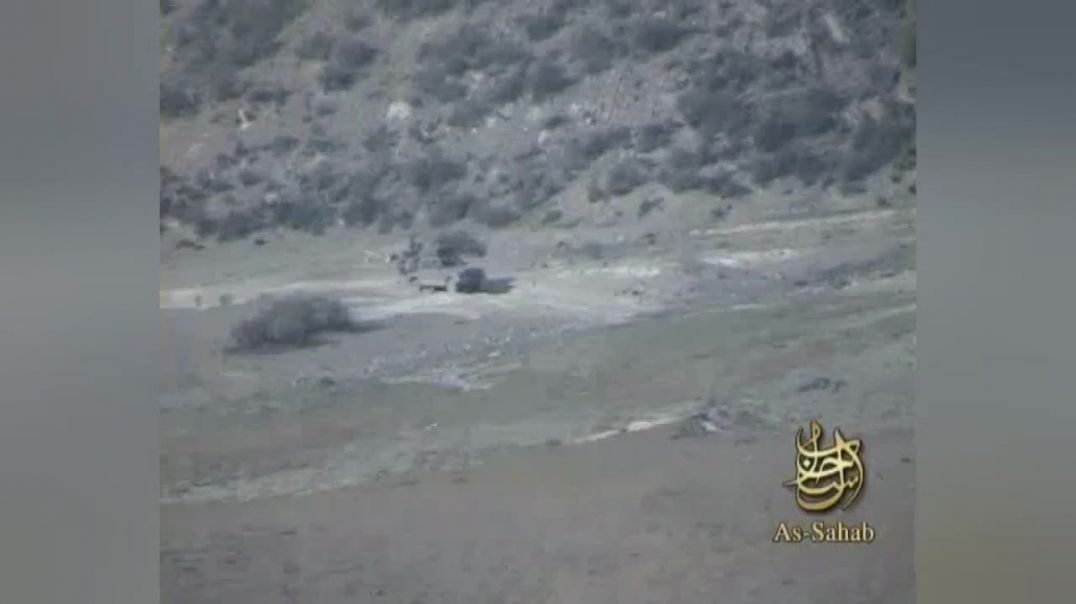 IED ATTACK DEVASTATE MILITARY VEHICLE FOR THE NEW AFGHAN TRAITORS ARMY